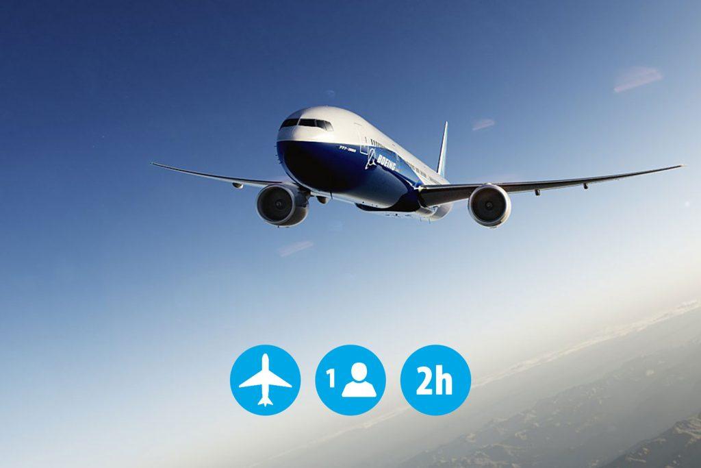 1 personne 2h en simulation de vol avion de ligne