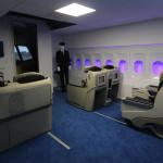 Salle de brifing sur avion de ligne Boeing 777.