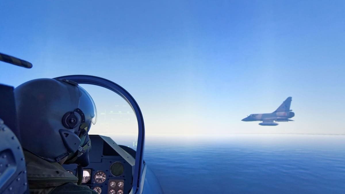 Mission de combat sur simulateur Mirage 2000