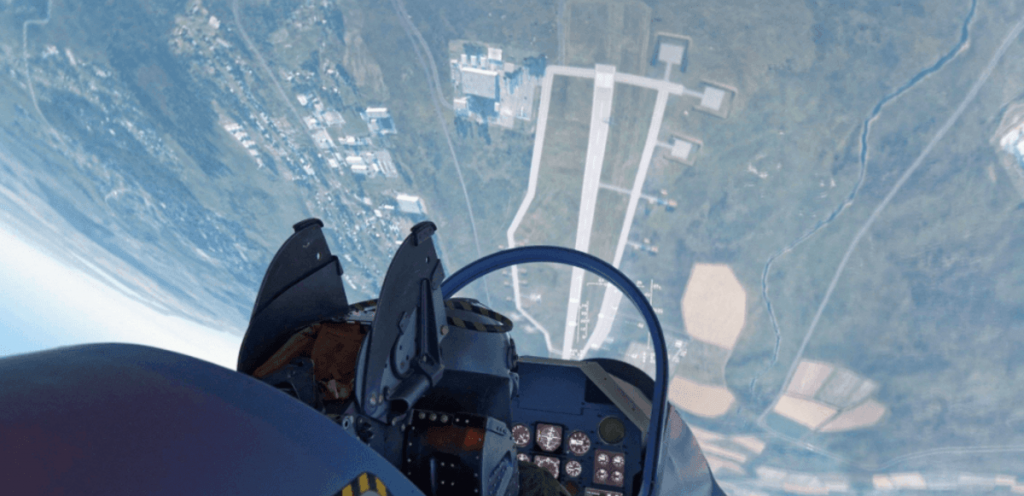 Tête à l'envers dans le cockpit d' un Mirage 2000