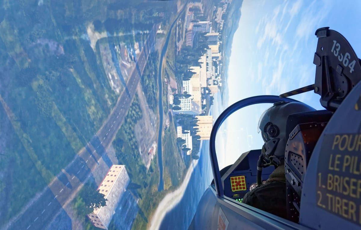 Loopings renversants simulateur Mirage 2000