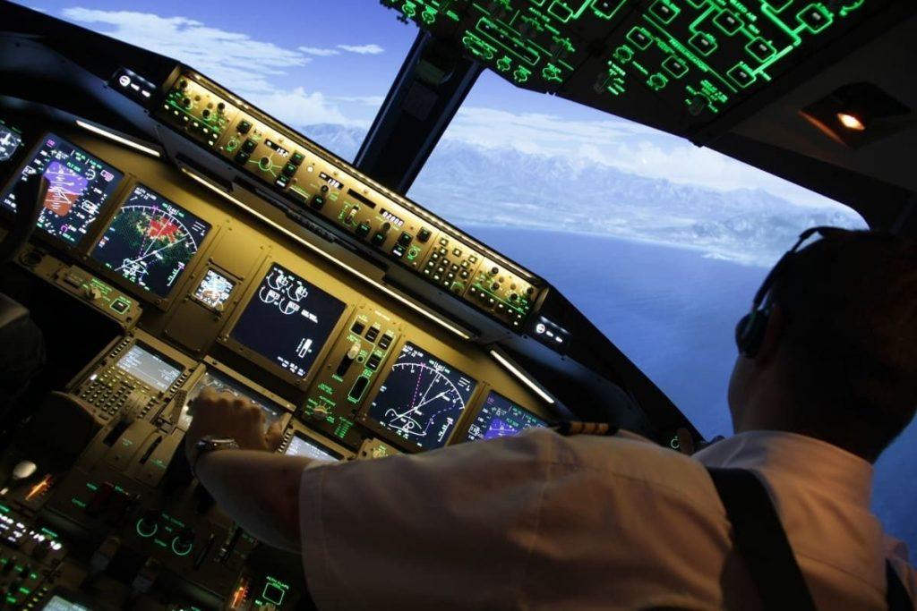 Simultation HD dans le cockpit Allumé de Skyway Simulation