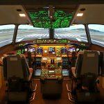 Ecran du simulateur avion de ligne B 777