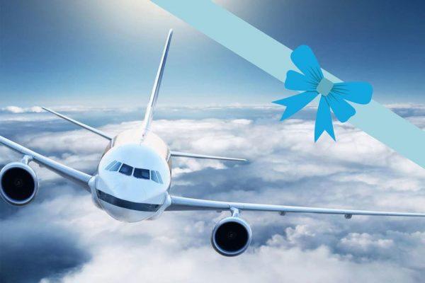 Carte cadeau avion de ligne