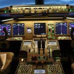 Cockpit B777 pour les stages de peur en avion