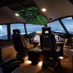 Cockpit Boeing 777.