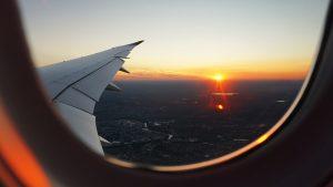 Coucher de soleil en Boeing 777